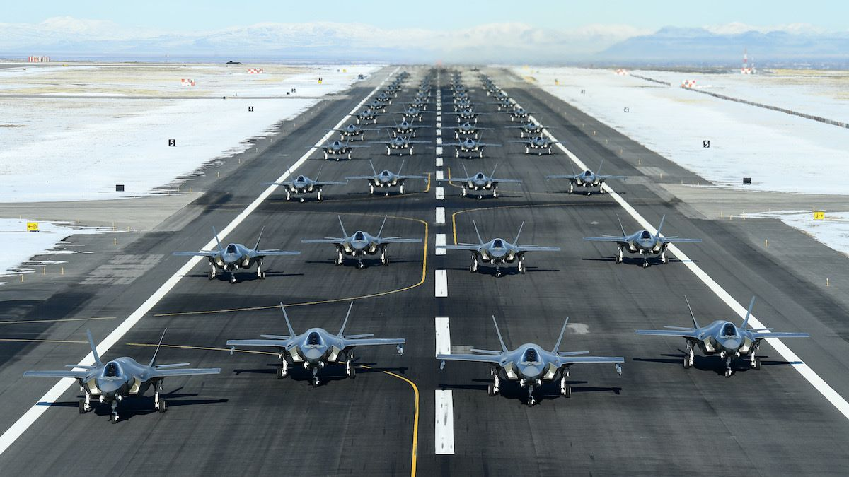 Behold the largest F35 elephant walk we've ever seen in