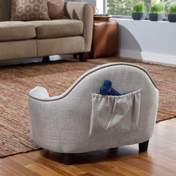 This Sterling Grey Dog Sofa Bed Features Luxurious Micro Velvet Inner This Bed Sillones Para Ninos Mascotas Decoraciones Del Hogar