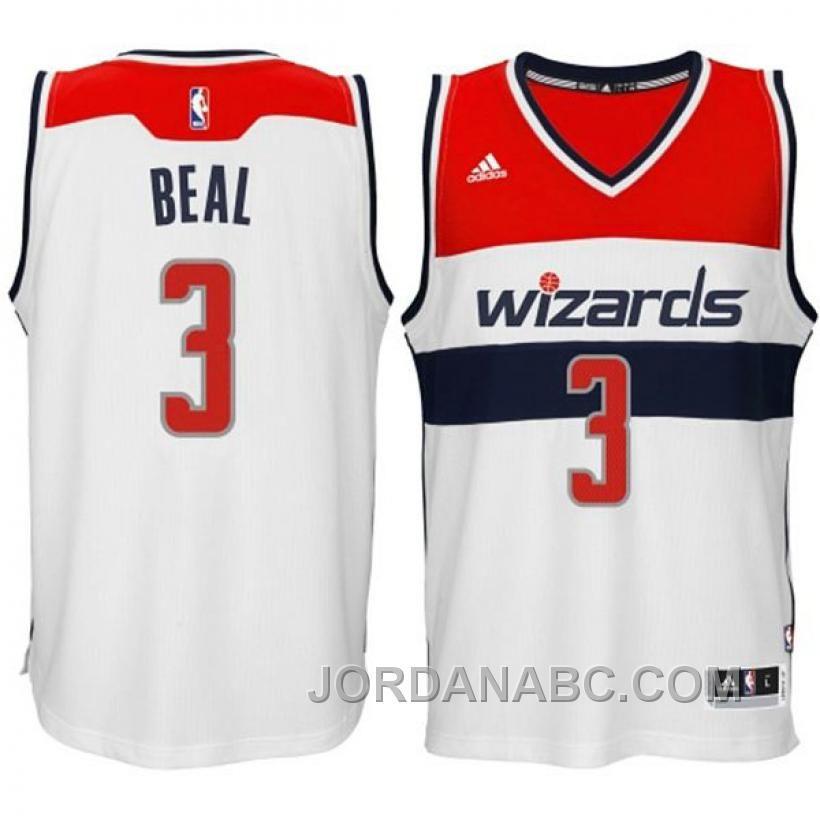 351ebe583e70 Bradley Beal Washingt Wizards  3 2014-15 New Swingman Home White Jersey On  Sale