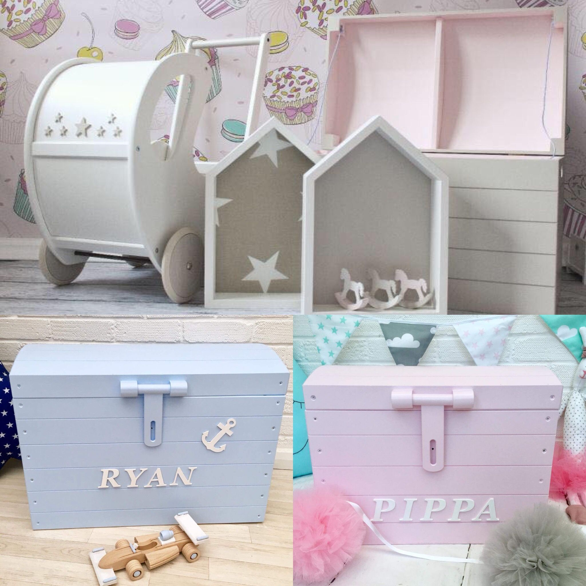 Toy Storage Wooden Personalised Box