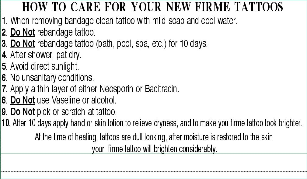 Henna Tattoo Care Instructions: Tattoo Care Instructions