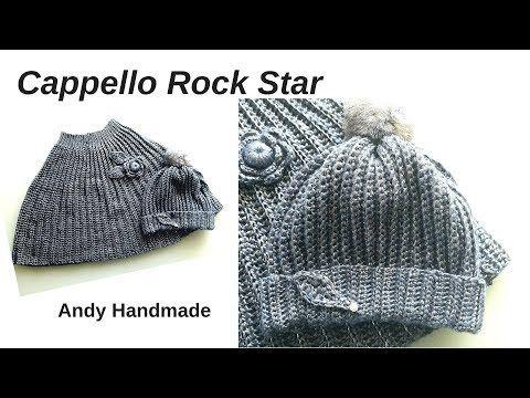 Cappello Facile Uncinetto Rock Star Tutte Le Taglie Gorro Crochet