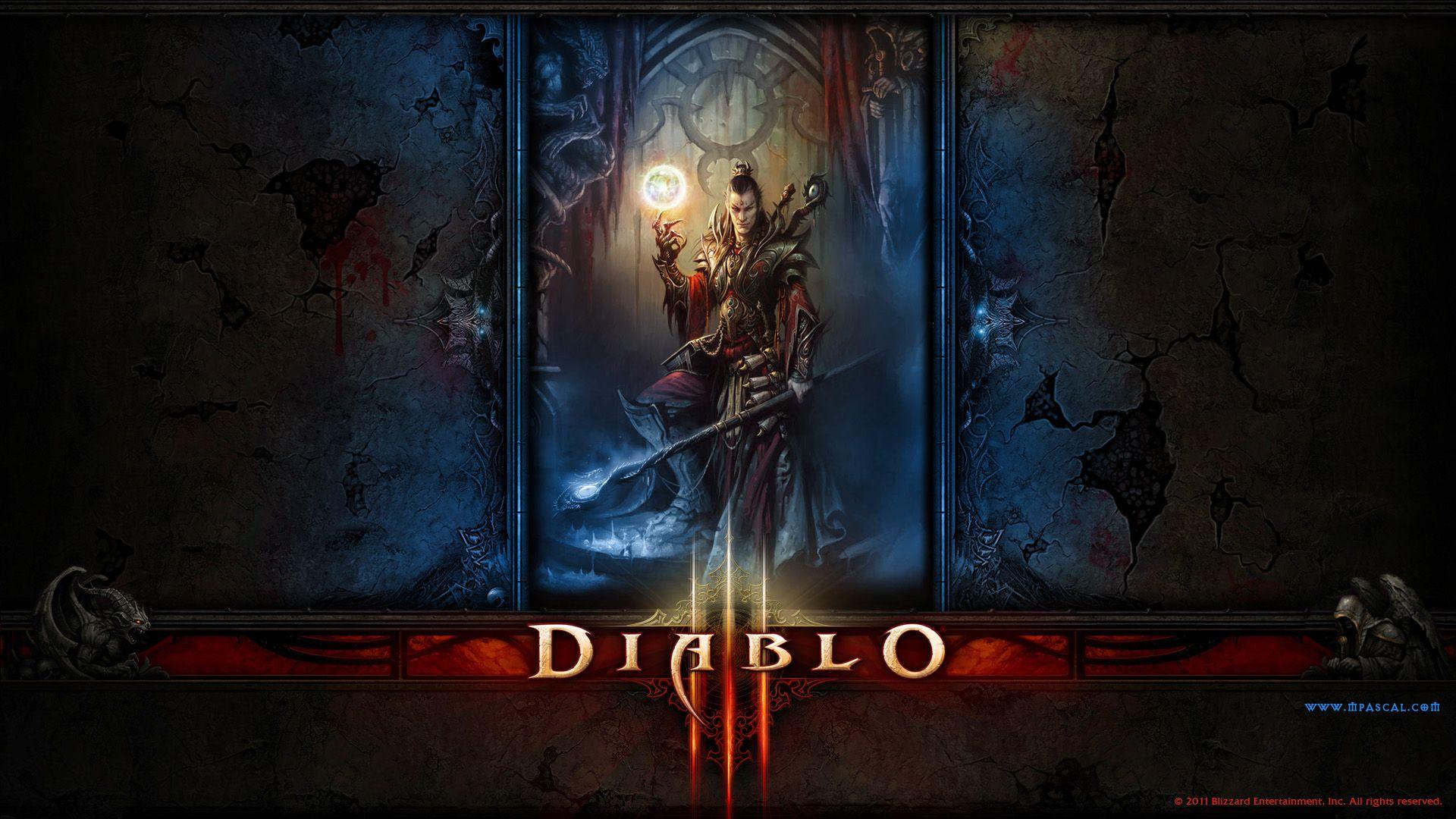 Wallpaper - Diablo 3 Sorcier Wallpaper by Panperkin | Diablo