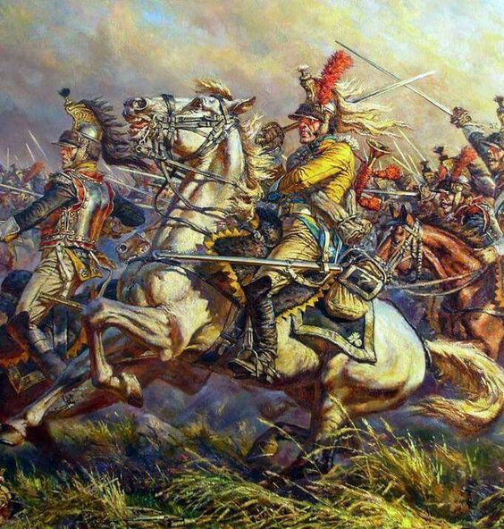 French Cuirassiers at Waterloo, by Anatoly Telenik ...
