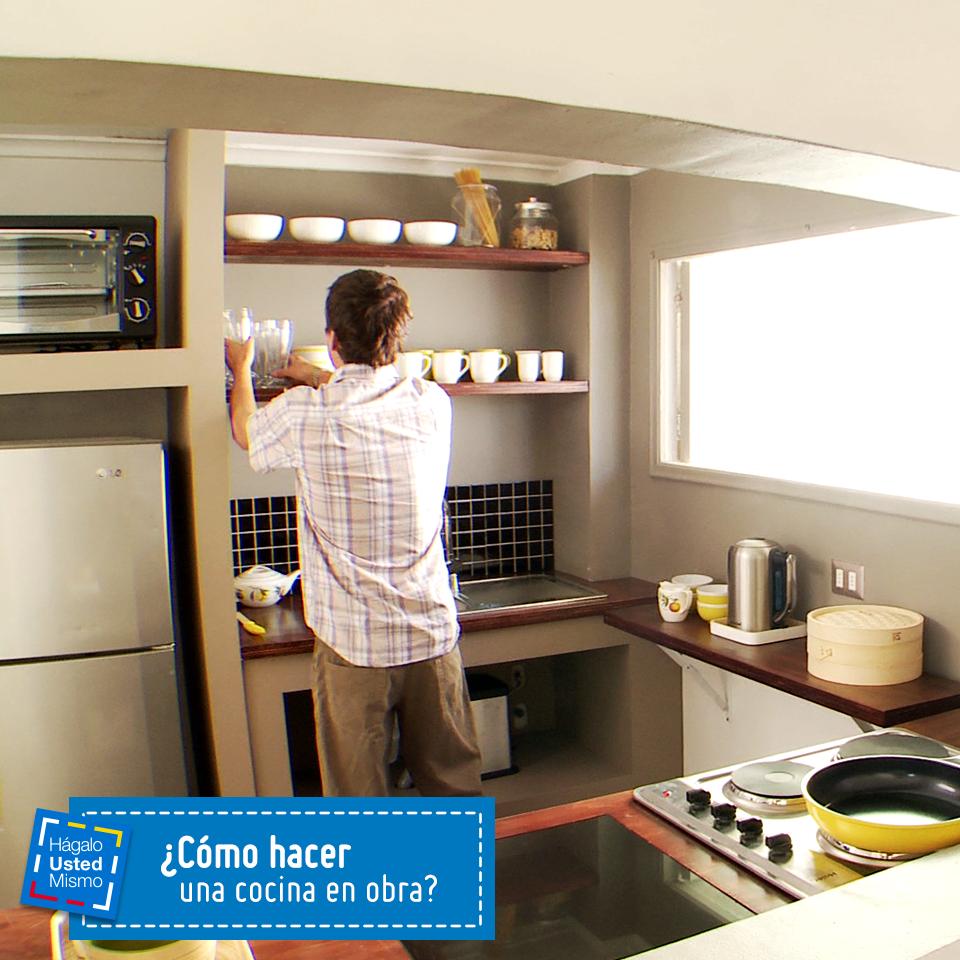 C mo hacer una cocina en obra hum diy - Como hacer una cocina de obra ...
