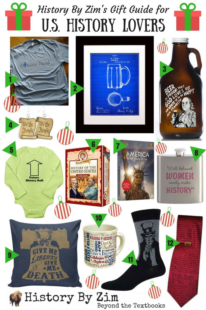 Gift Guide U S History Lovers History Gift History Lover History
