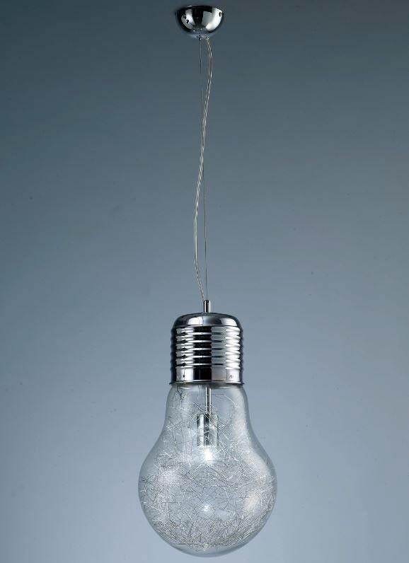 L mpara de techo colgante bombilla gigante lamparas vintage estilovintage iluminacion - Lamparas bombilla gigante ...