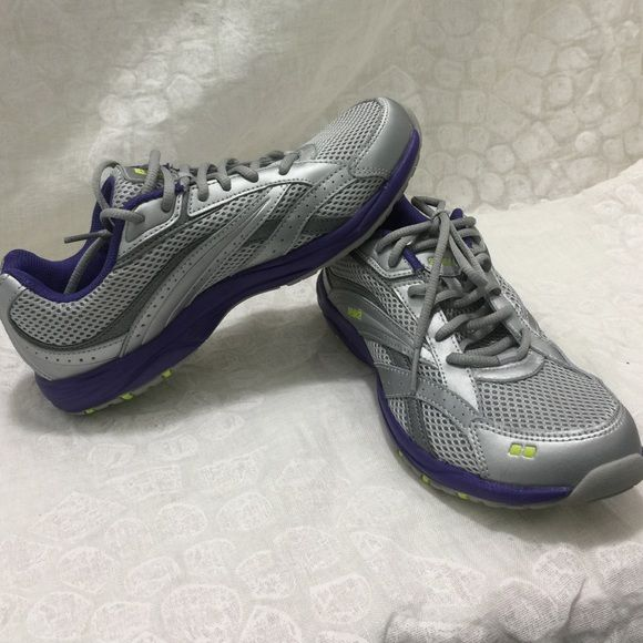 Ryka Stroll Silver & Purple Sneakers Size 6.5! Great condition! These  gorgeous ryka sneakers