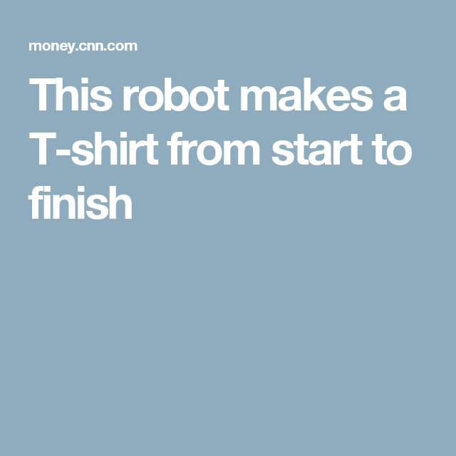 This robot makes a T-shirt from start to finish