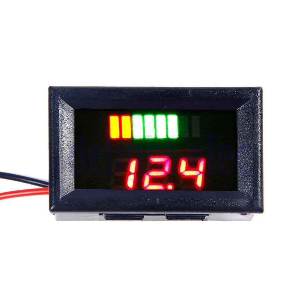293 Charge Level Battery Indicator Voltmeter For 12v Lead Acid Red Dg