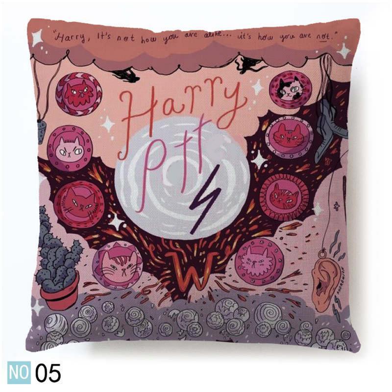 Harry Potter estilo sofá funda de almohada funda 43x43 CM