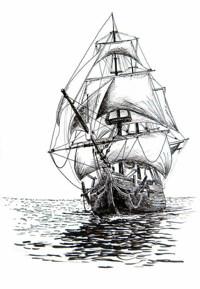 Segelschiff bleistiftzeichnung  Pin von Martin Žůrek auf Návrhy Tetování | Pinterest