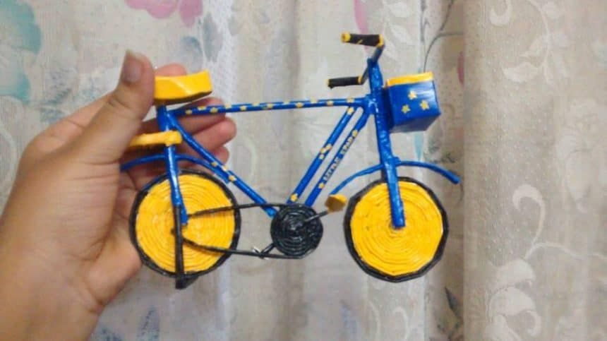 How To Make Bicycle From Newspaper Tube Gazete