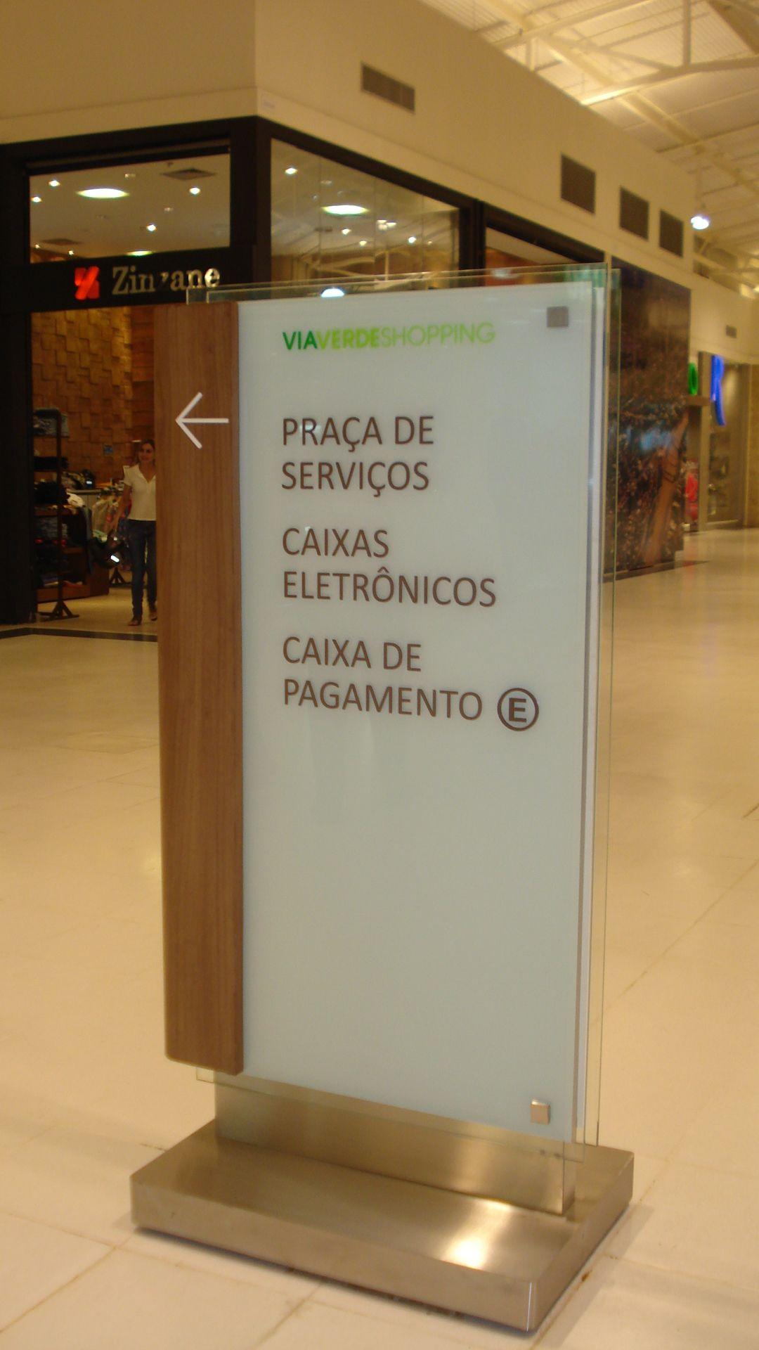 #Wayfinding #Directionalsign #ShoppingViaVerde - Rio Branco (AC) - Brazil #brazilian design #design #shopping #malls