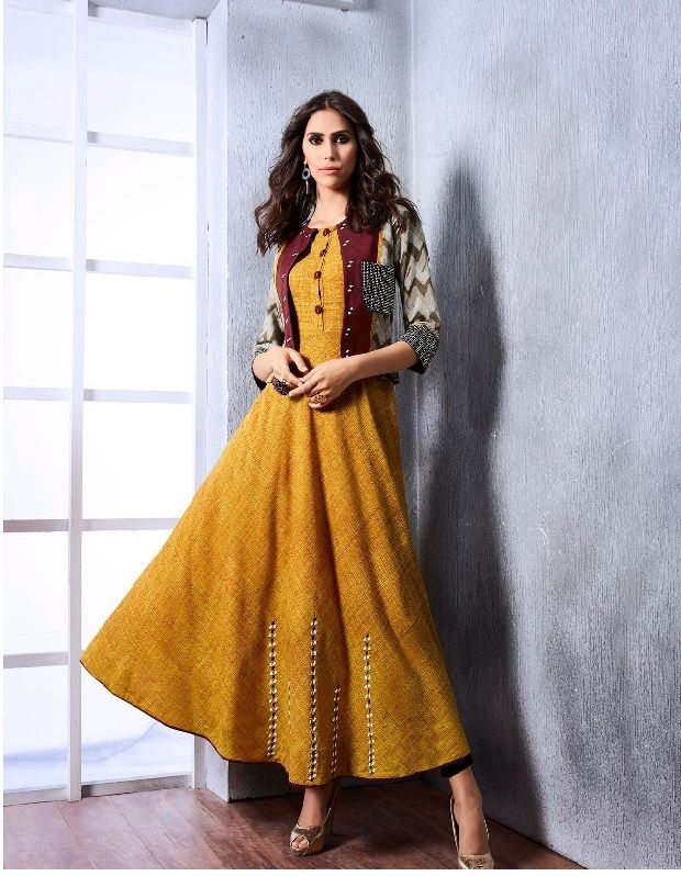 yellow #colourful #ethnic #gowns #rayon | yellow colourful | gown ...