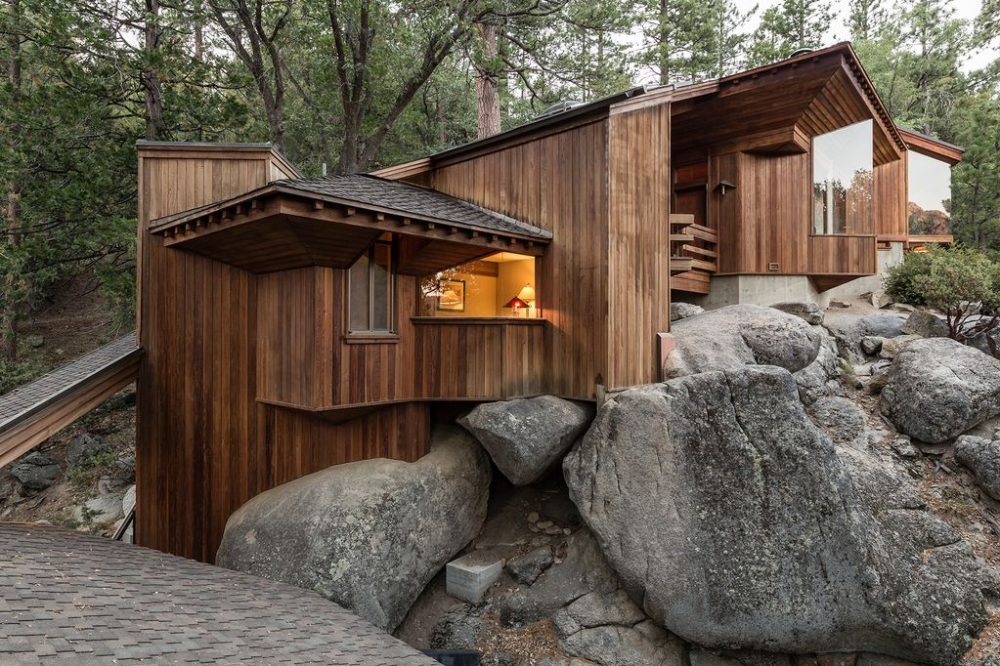 Architect S Dream Gorgeous Contemporary Cabin With Amazing View Idyllwild Contemporary Cabin Idyllwild Cabin Idyllwild