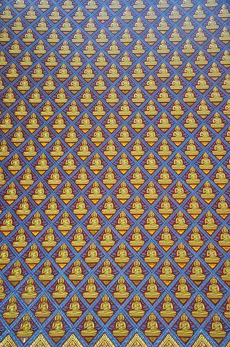 pattern - Wat Chaiyamangalaram - Penang - Malaysia by J>Me, via Flickr