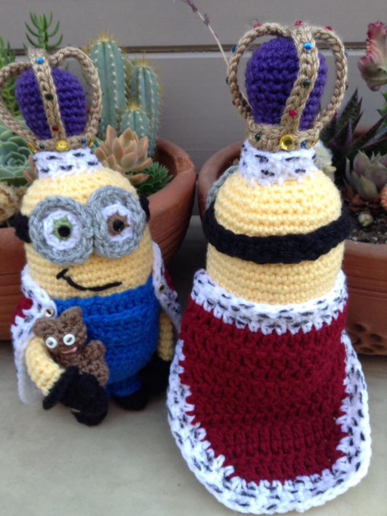 King Bob Minion and teddy | Crochet | Pinterest | Modelado, Tejido y ...