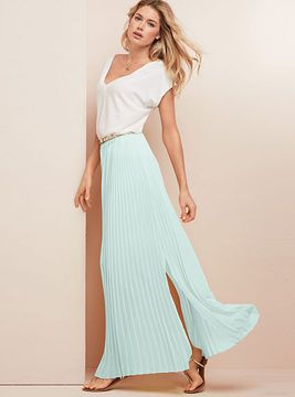 0e613ba45be684 Pleated Maxi Skirt on shopstyle.com | Trendy!! in 2019 | Pleated ...