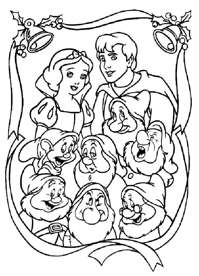 Snow White and the Seven Dwarfs Coloring Pages pdf printable ...