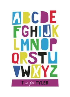 'Paper Cut ABCs', on Minted.com