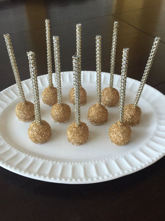 Gold and Silver Bling Cake Pops by TheCakeBallerina on Etsy