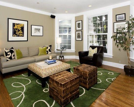 Black White Brown Living Room Colors Living Room Color Living Room Green