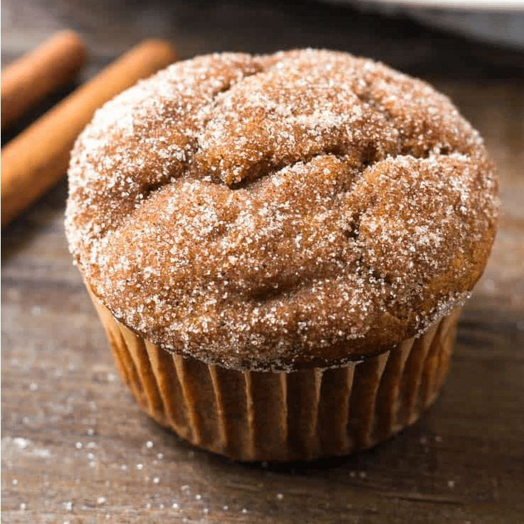 Pumpkin Spice Muffins - moist and covered in cinnamon sugar.