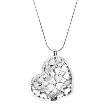 Birks love collection heart pendant necklace in sterling silver birks love collection heart pendant necklace in sterling silver etty cute with all the hearts in the pendant aloadofball Gallery