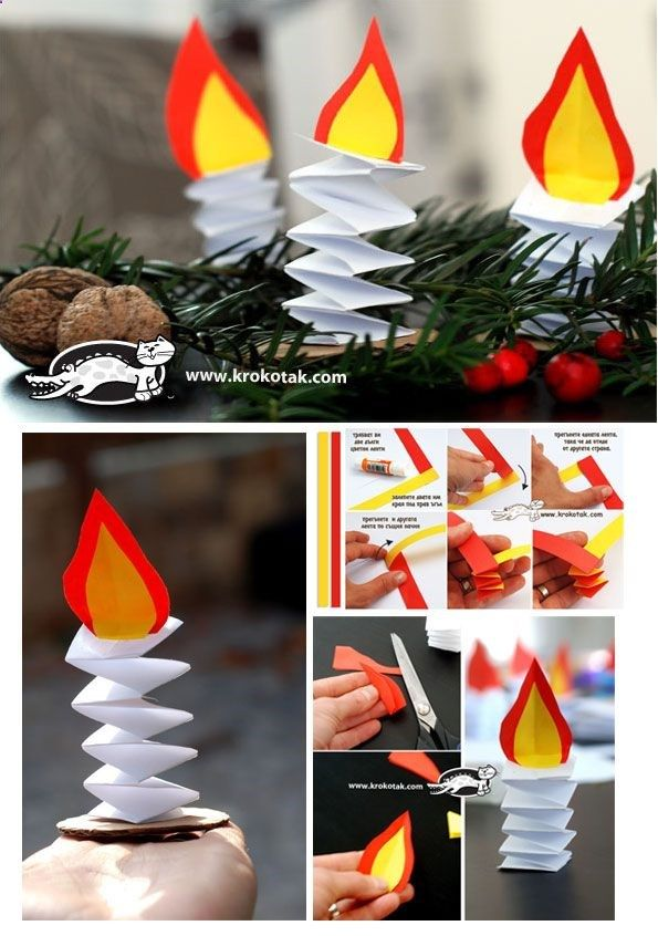 Paper candles share your craft pinterest for Pinterest weihnachtsbasteln