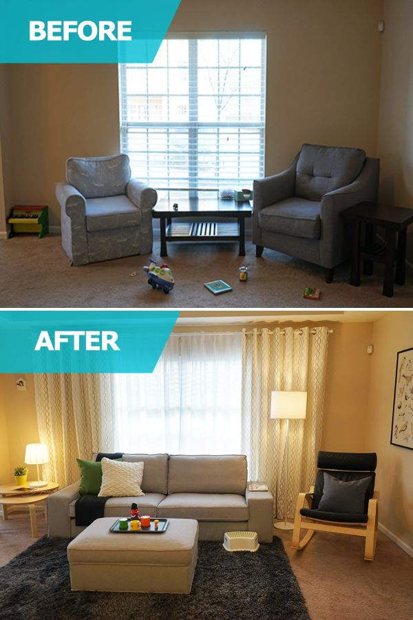 Ikea Usa Living Room Ideas Modern Contemporary The Home Tour Squad Transformed Becky S Space By Giving Her Ample Seating And Creating Customized Storage Solutions For Kids