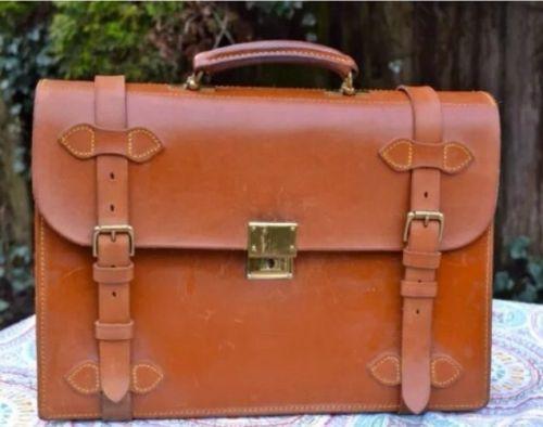 Gorgeous Vintage Polo Ralph Lauren Saddle Leather Attache Briefcase Saddle Leather Leather Attache Vintage Polo