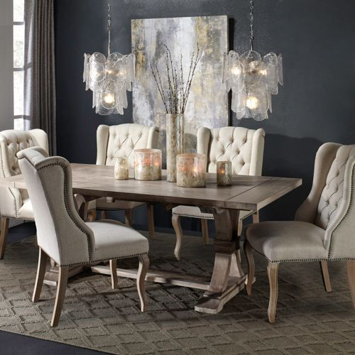 8cdd3c447682 Archer Natural Grey Extending Dining Table in 2019