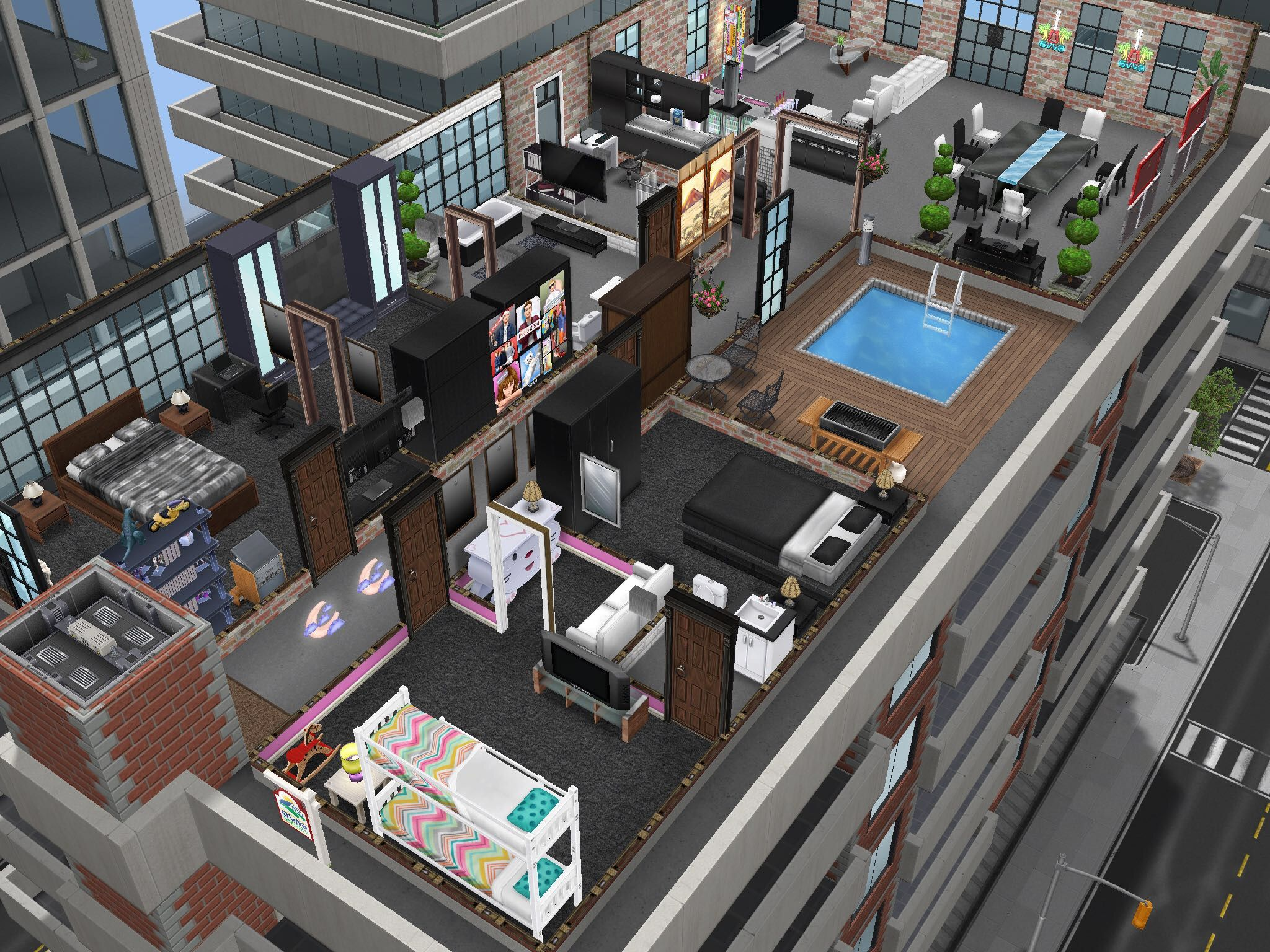 Sims Freeplay Penthouse Sims Freeplay Houses Sims House Plans Sims House