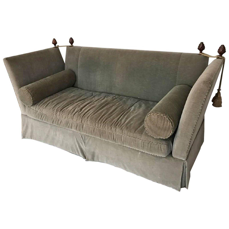 Flared Arm Tuxedo Knole Style Sofa Sofa Best Leather Sofa