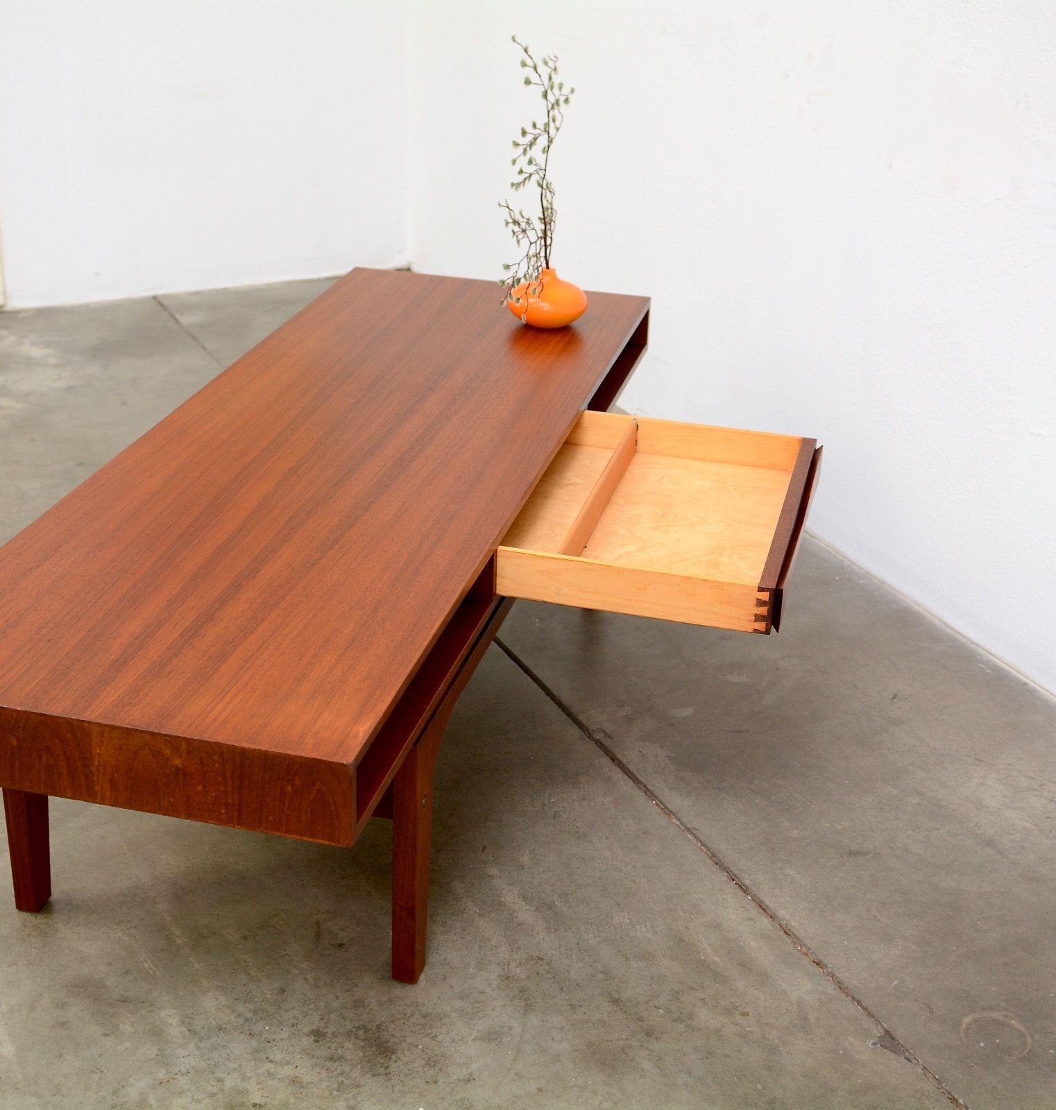 1960s Danish Modern Ew Bach Teak Coffee Table Mid Century Vintage Eames Mid Century Coffee Table Teak Coffee Table Coffee Table [ 1600 x 1522 Pixel ]