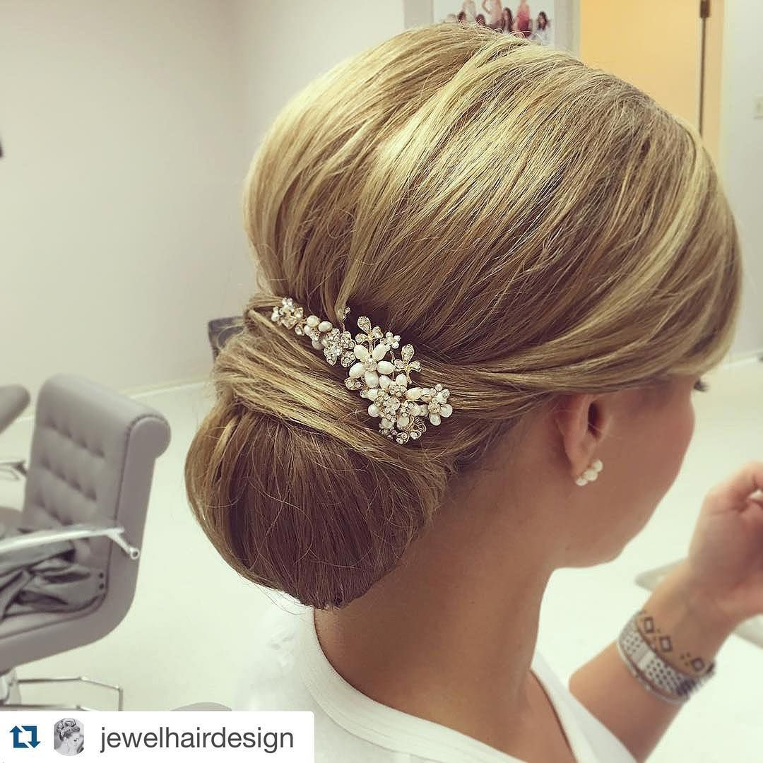 """our gold """"gabriela"""" bridal hair comb goes perfectly with"""
