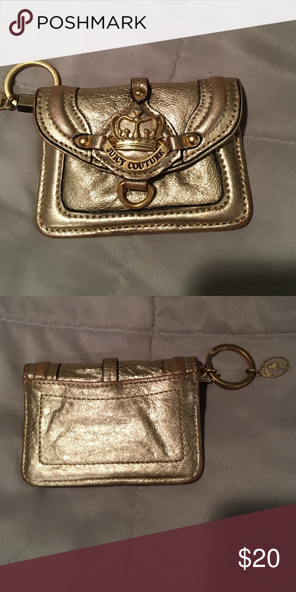 Gold juicy couture change/id wallet Gold juicy couture little wallet. Very small  great for tween  hardly used Juicy Couture Bags Wallets