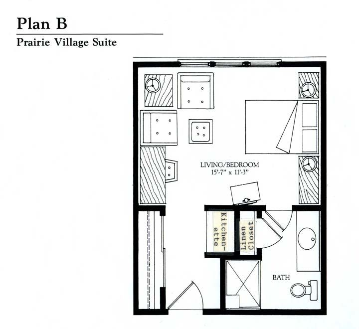 Small studio apartment floor plans floor plans garage for Efficiency apartment floor plans