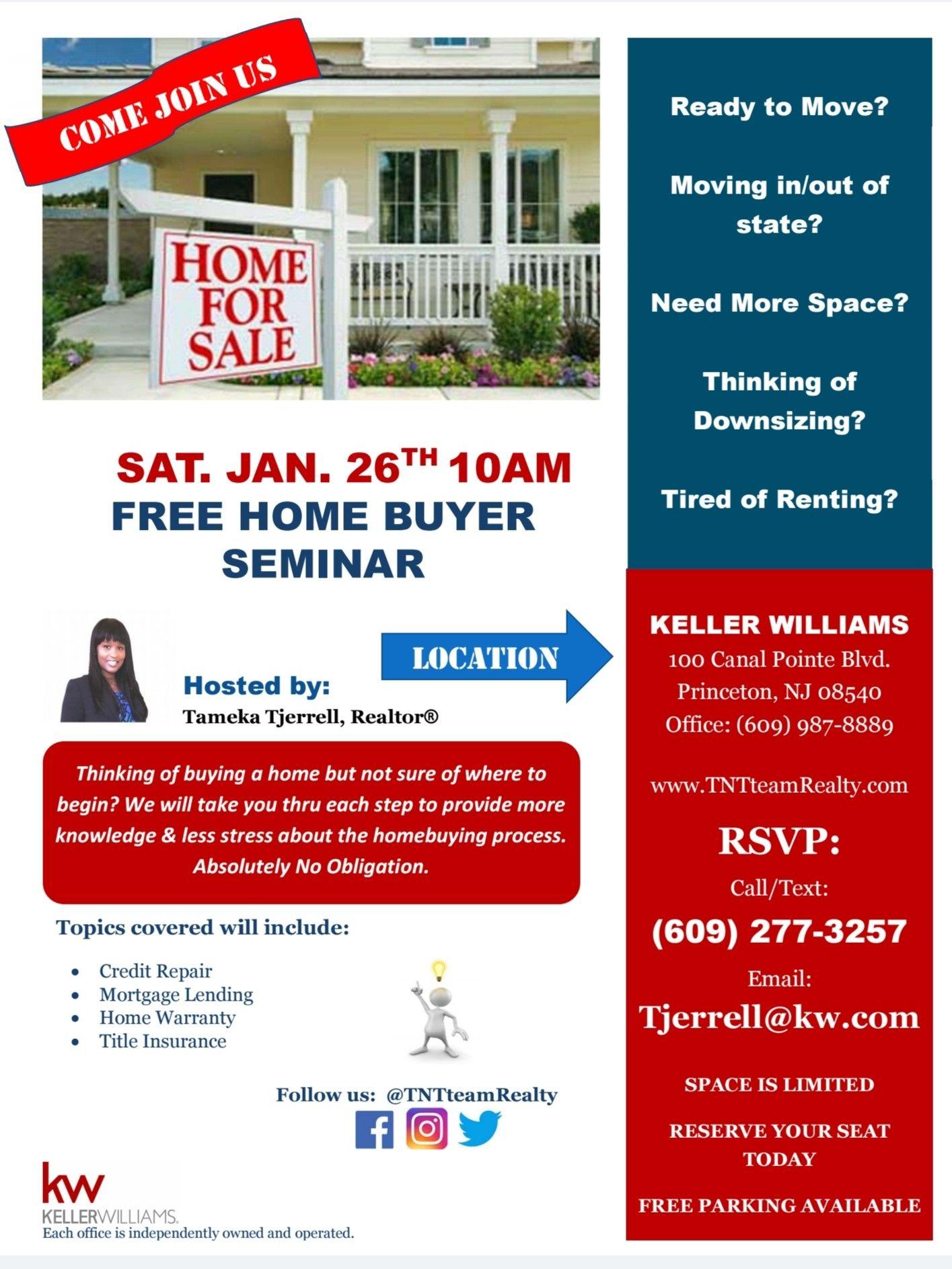 Free Homebuyer Seminar Home Buying First Time Home Buyers Seminar Home buyer seminar flyer template