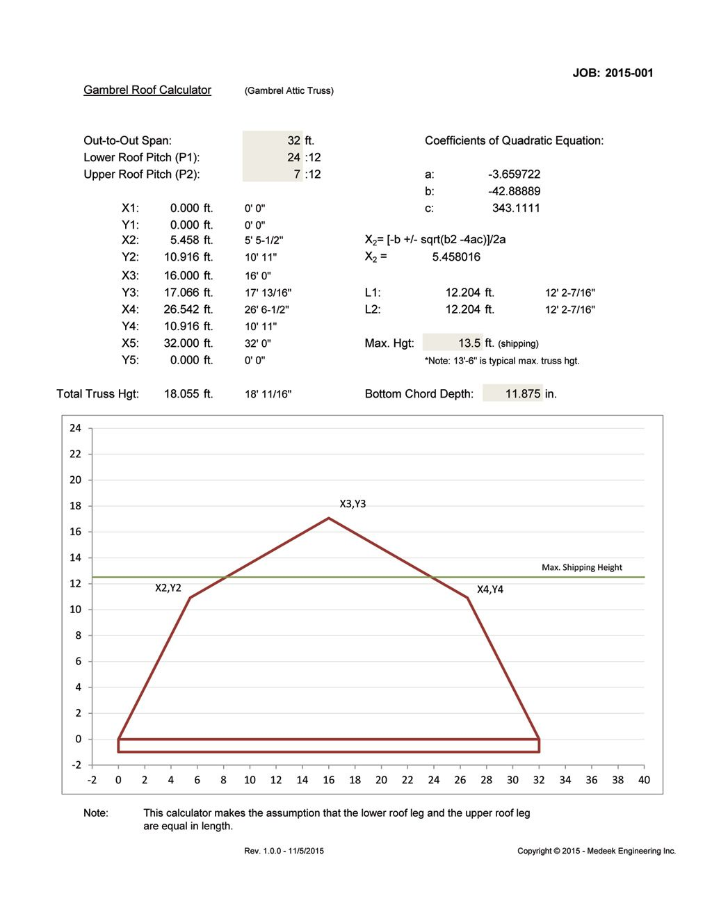 Gambrel Roof Calculator Click Here For Larger Pdf File Of This Image Roofing Calculator Gambrel Barn Roof Truss Design
