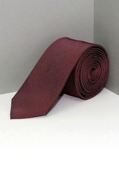 Burgundy Dot Silk Tie | Cosmo Circle