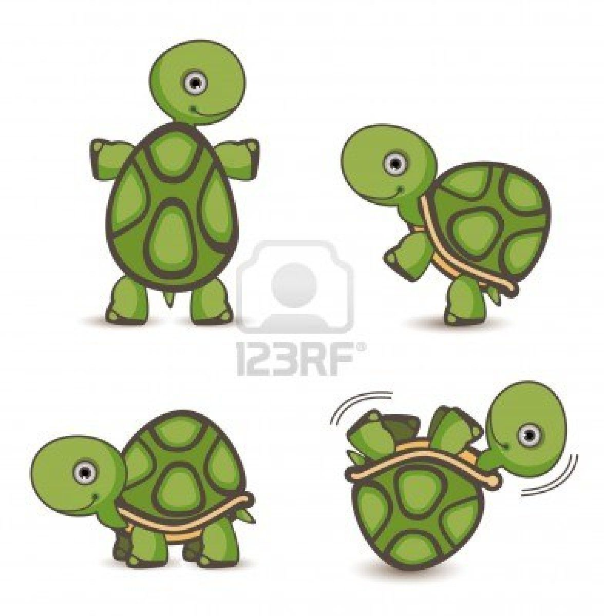 Turtle set stock photo