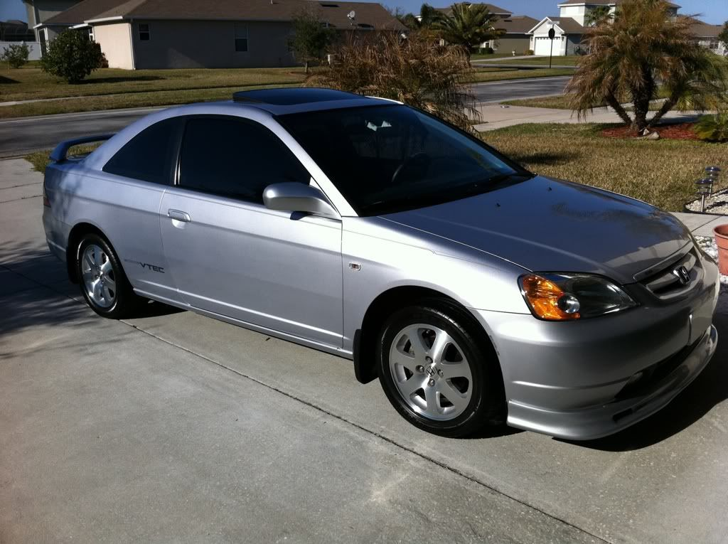 silver 2001 honda civic coupe tint window Location