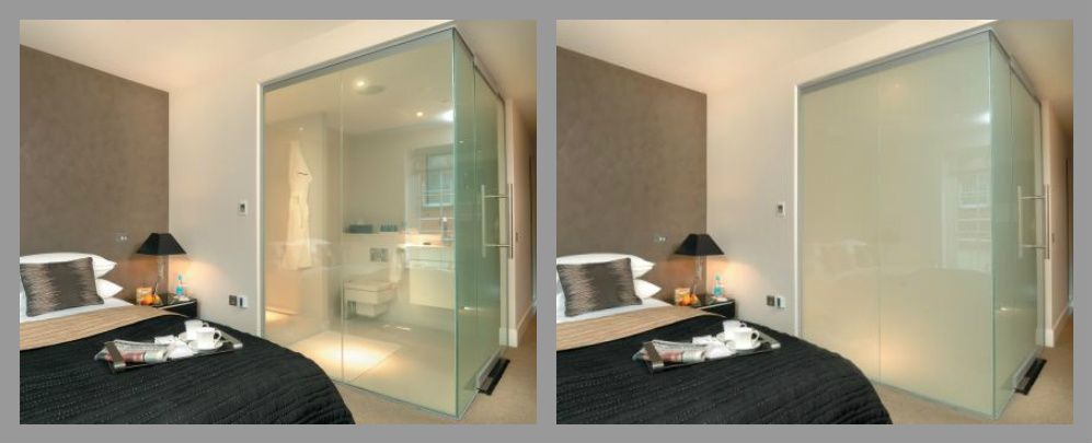 Smart Glass Shower Outside Look The Switch Is Located Above The