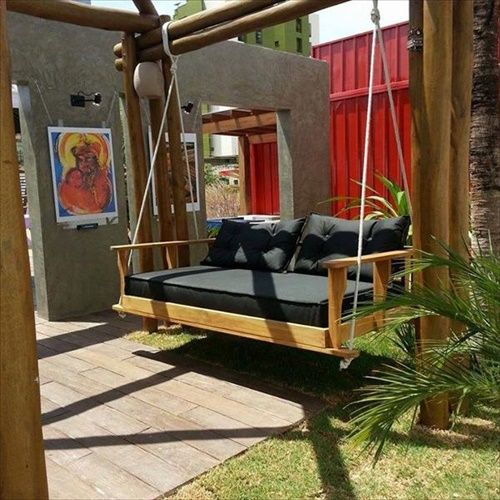 Diy Pallet Chair Design Ideas To Try: DIY Pallet Swings Ideas