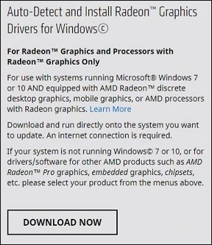 Obtaining Graphics Drivers Using The Amd Driver Auto Detect Tool Amd Amd Supportive Learning