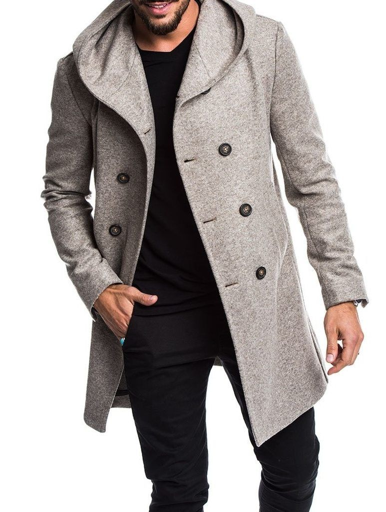 Man Wool Blends Jacket New Formal Casual 5 Color Fashion Men's Long Cotton  Coat S-3XL | Long coat men, Mens wool coats, Men's coats and jackets