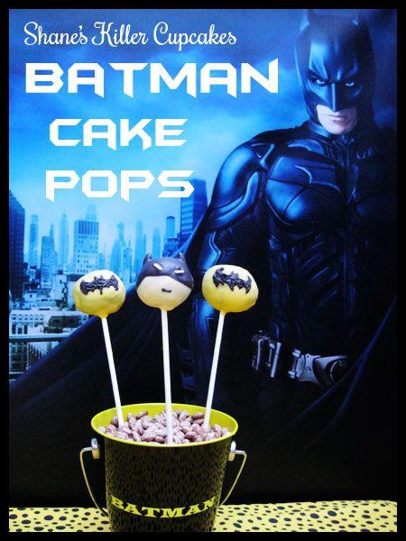 Batman Cake Pops from Shane's Killer Cupcakes