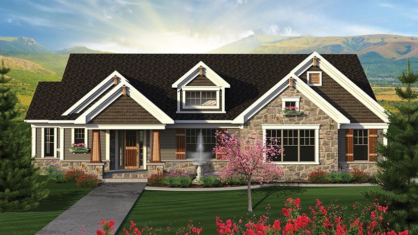 Ranch Style House Plan 4 Beds 3 Baths 2782 Sq Ft Plan 70 1202 Ranch Style House Plans Craftsman House Plans Ranch House Plans